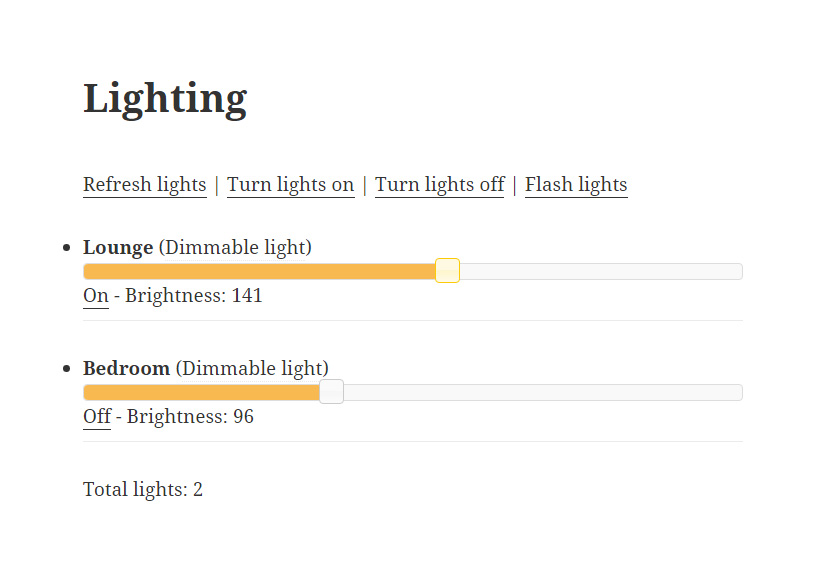 Philips hue dim controls on websites using WordHue plugin