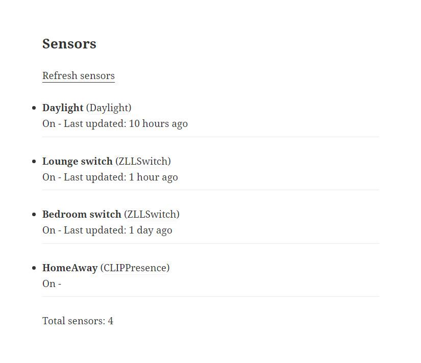 Philips hue monitor via WordPress plugin WordHue