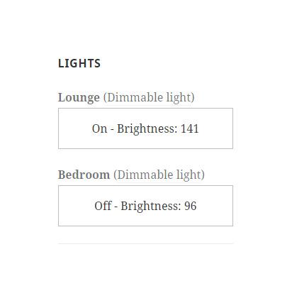 Philips hue WordPress widget, switch lights on off